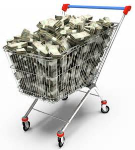 money shopping trolley